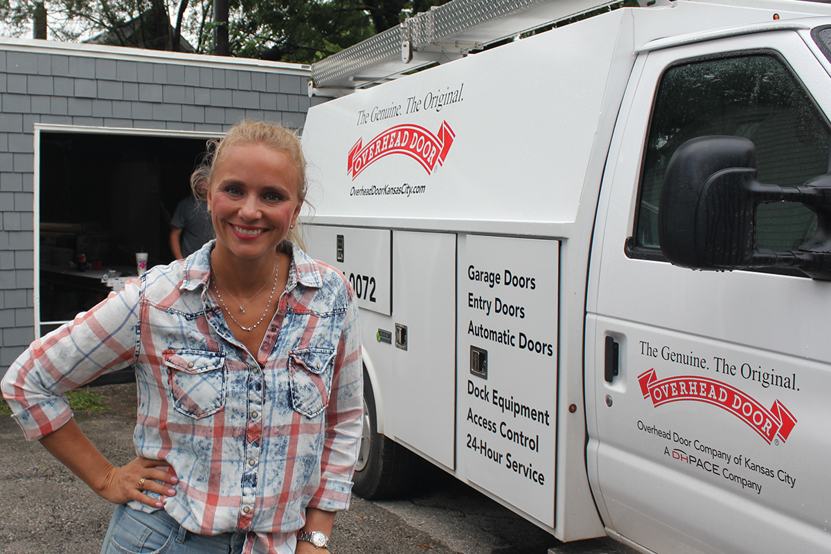DIY Network's Bargain Mansions host Tamara Day worked with Overhead Door Company for the show